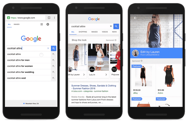 Διαφημίσεις adwords – Shop the Look on Google